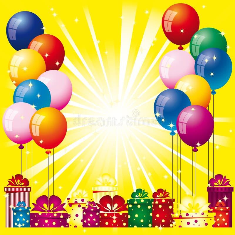 Fond avec des ballons à air illustration libre de droits