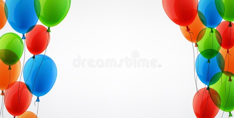 Fond avec des ballons de couleur illustration de vecteur