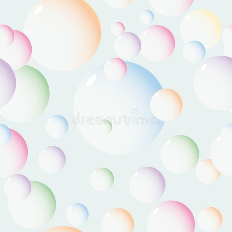Fond avec des bulles illustration de vecteur