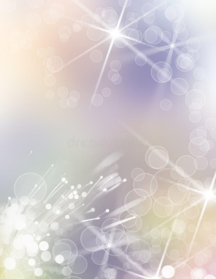 Fond avec des bulles et des lumières illustration libre de droits