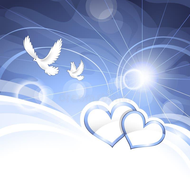 Fond avec des coeurs illustration libre de droits