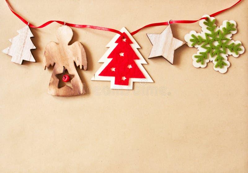 Fond avec des décorations de Noël photos stock