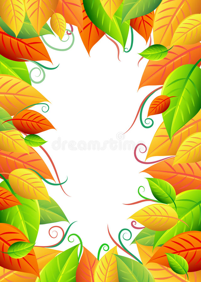 Fond avec des feuilles illustration stock
