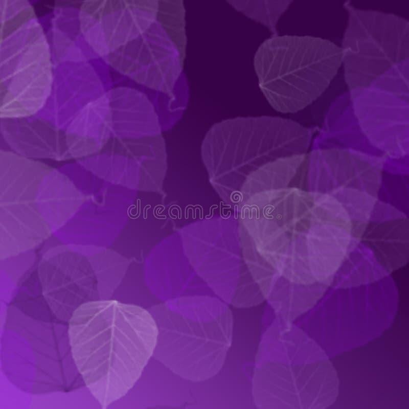 Fond avec des feuilles sur le pourpre images stock