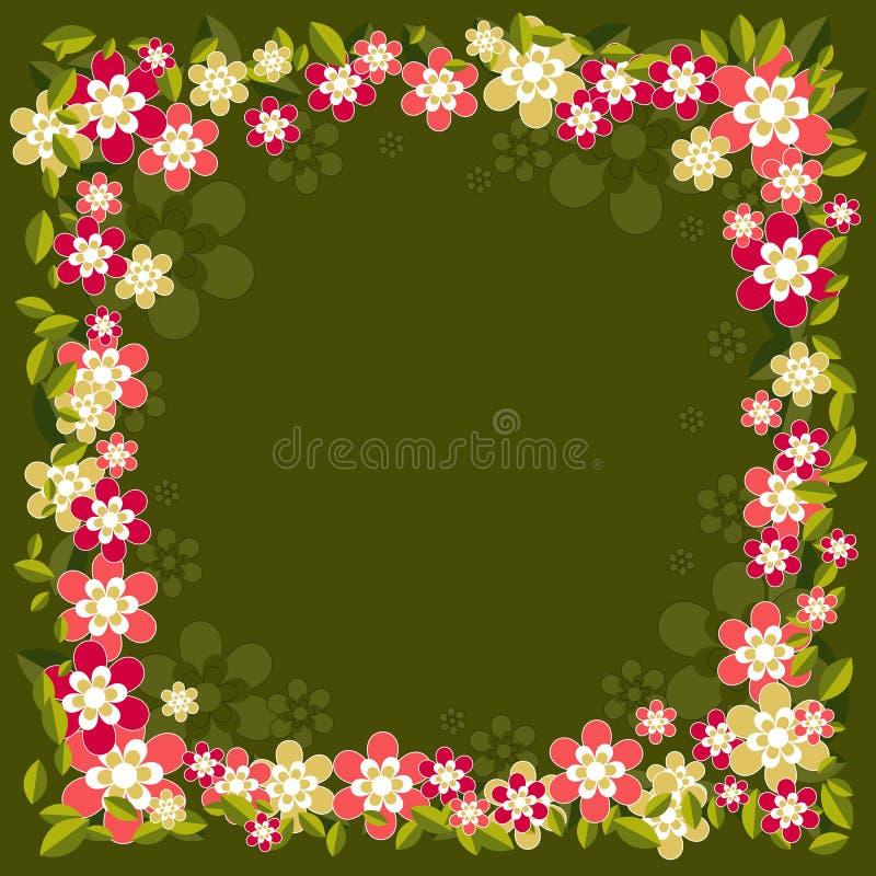 Fond avec des fleurs, vecteur illustration de vecteur