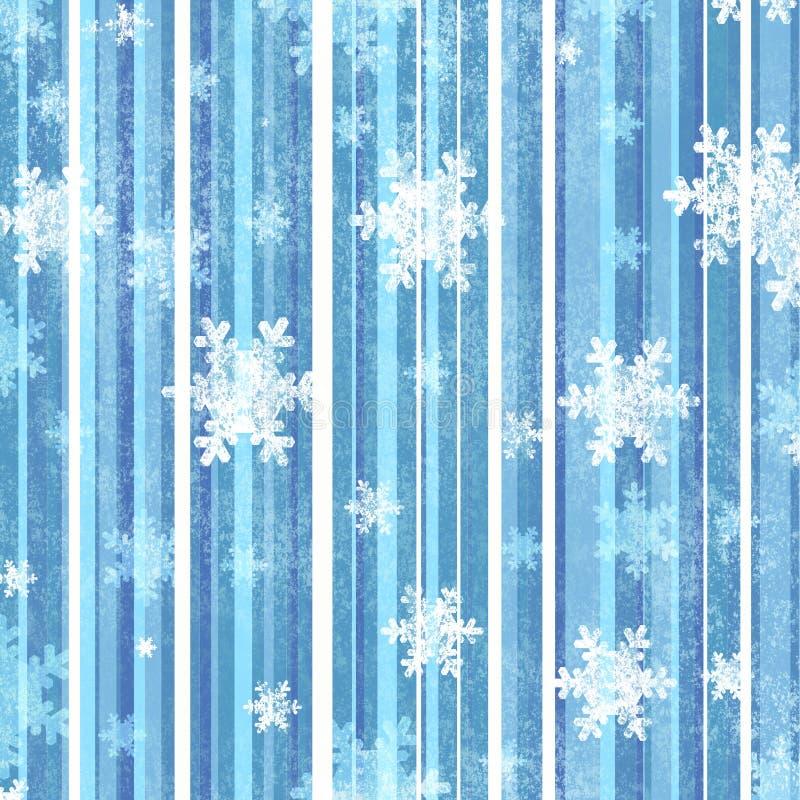 Fond avec des flocons de neige illustration de vecteur