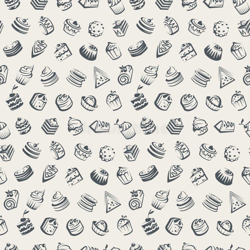 Fond avec des gâteaux illustration de vecteur