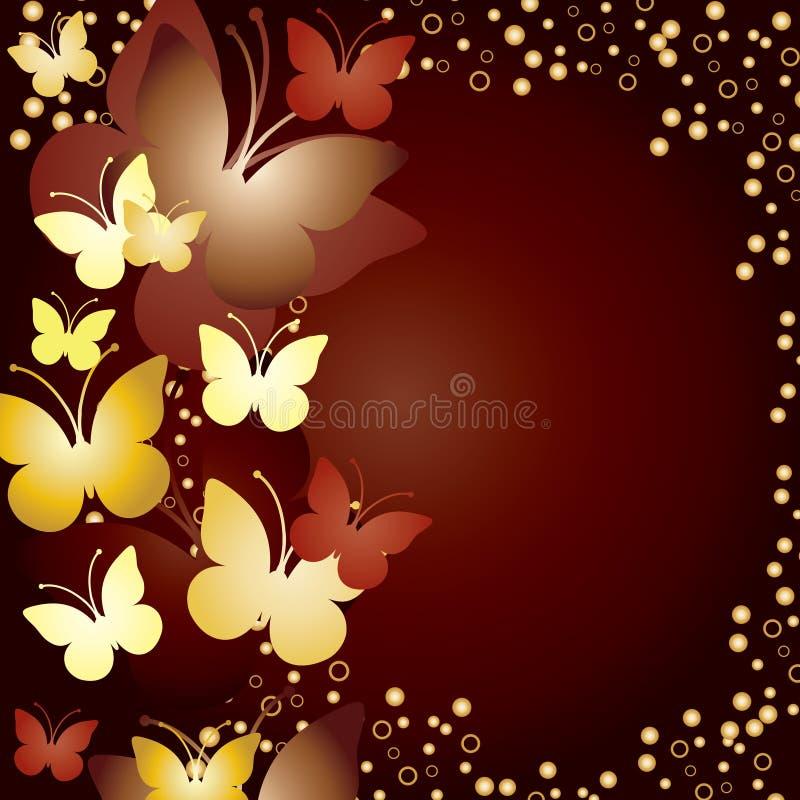 Fond avec des guindineaux d'or illustration stock