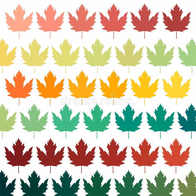 Fond avec des lames symbole du Canada Fond pour la carte postale Calibre pour une carte postale d'automne images stock