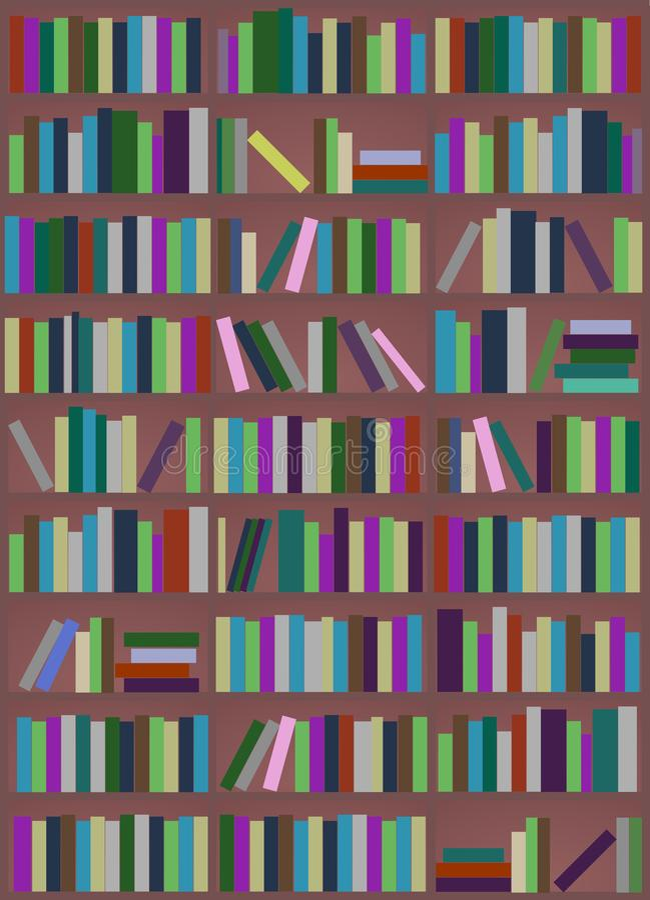 Fond avec des livres illustration de vecteur
