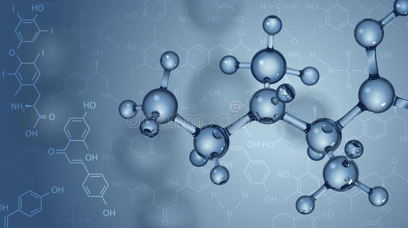 Fond avec des molécules illustration de vecteur