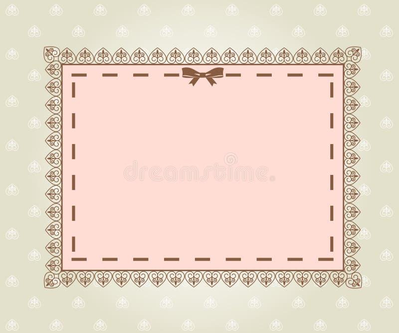 Fond avec des ornements de lacet. illustration stock