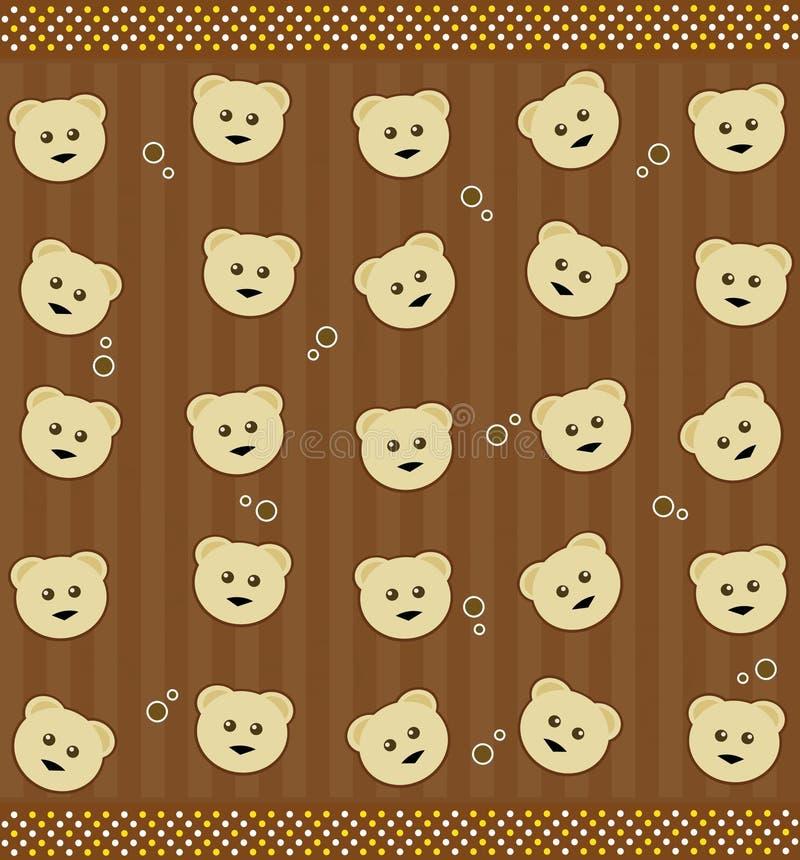 Fond avec des ours de nounours illustration stock