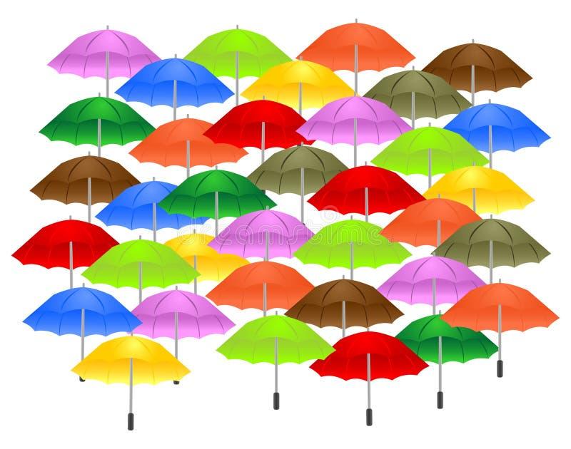Fond avec des parapluies illustration libre de droits