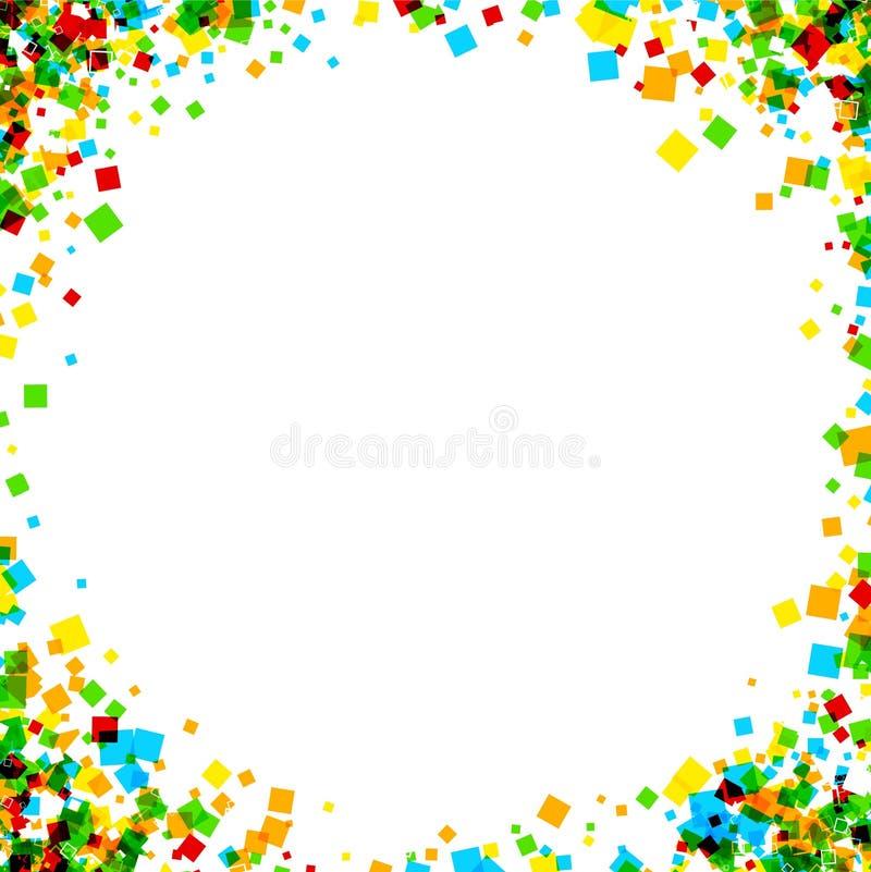 Fond avec des places de couleur illustration de vecteur
