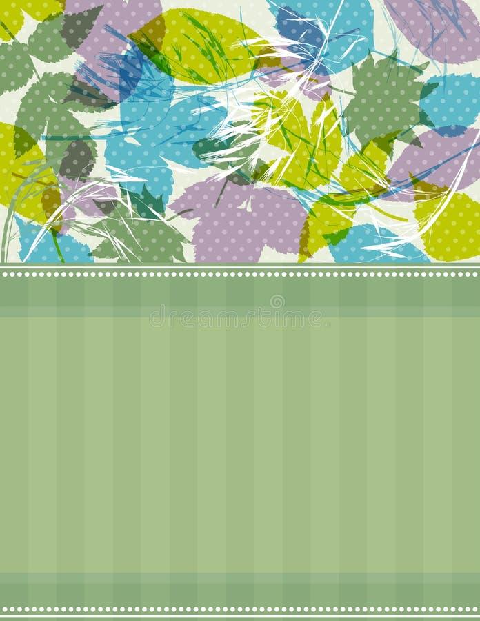 Fond avec des silhouettes d'herbe et de lames illustration stock