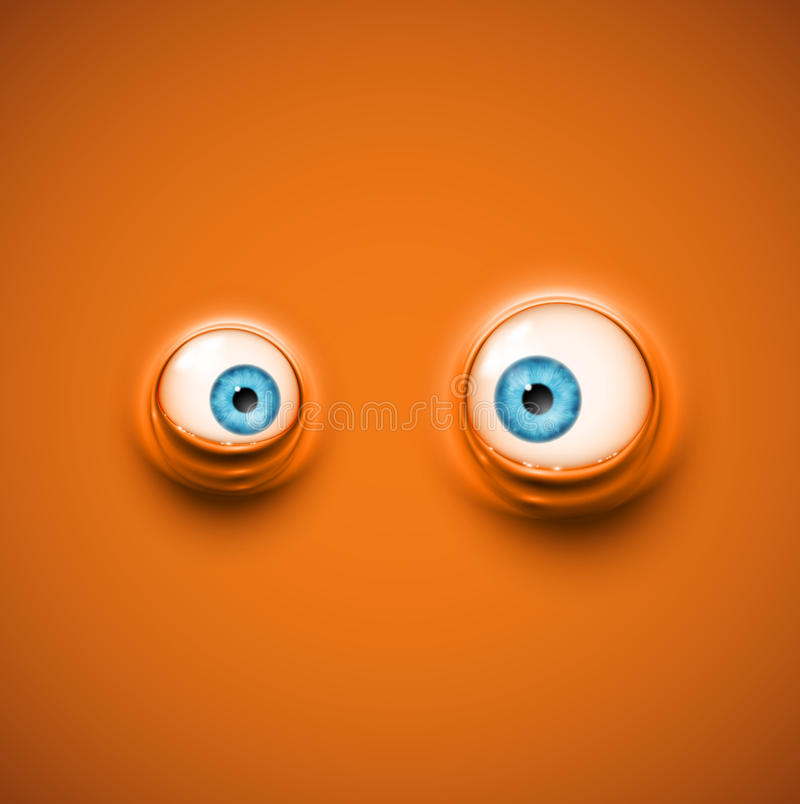 Fond avec des yeux illustration de vecteur
