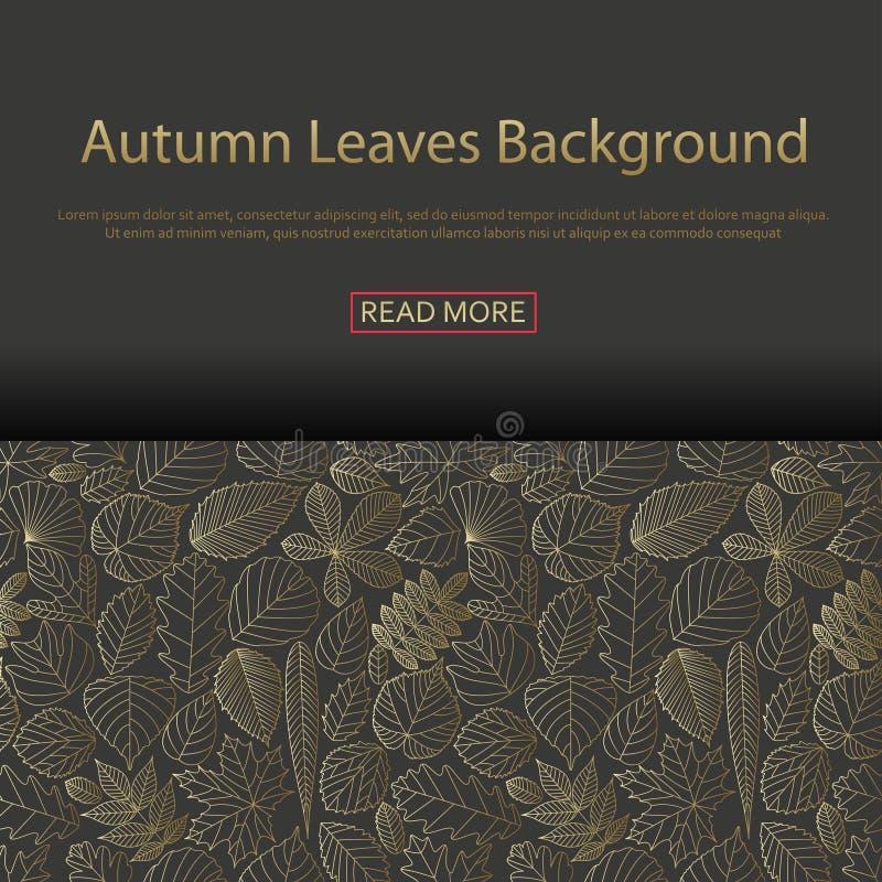 Fond avec différentes feuilles d'arbre illustration de vecteur