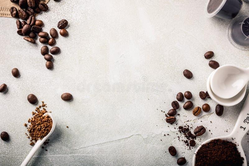 Fond avec du café assorti photo stock