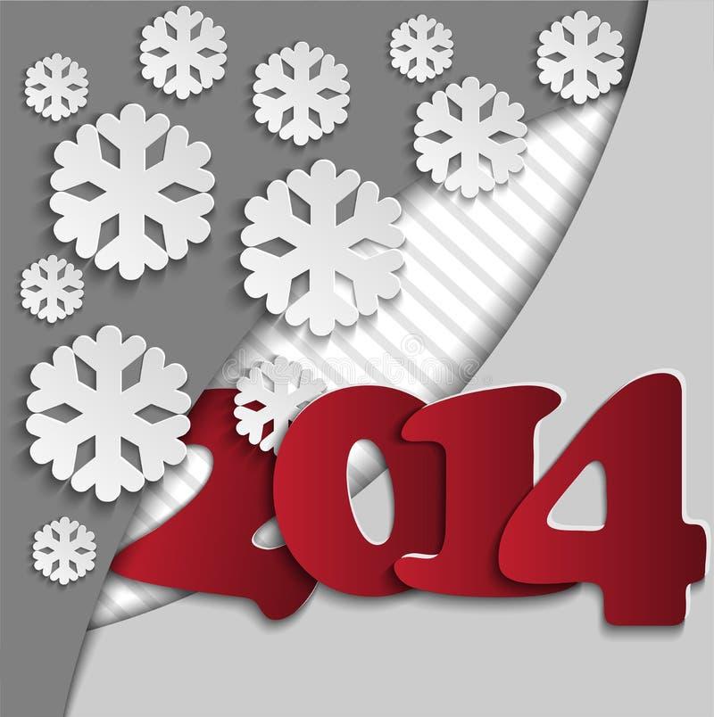 Fond avec figures «2014» illustration stock
