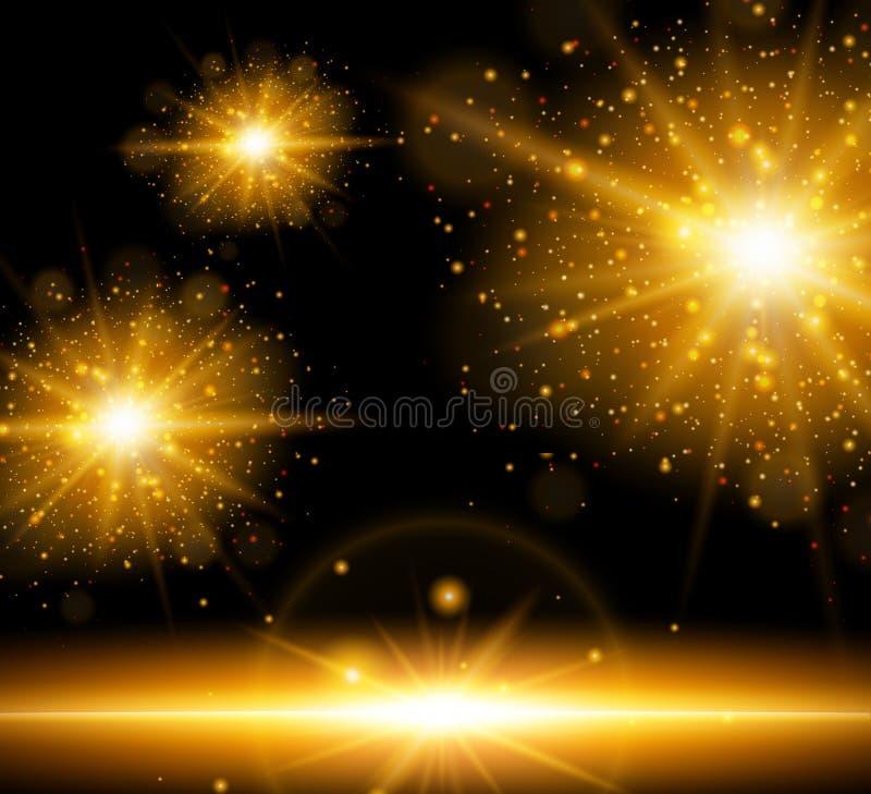 Fond avec l'éclat d'orange des lumières illustration libre de droits