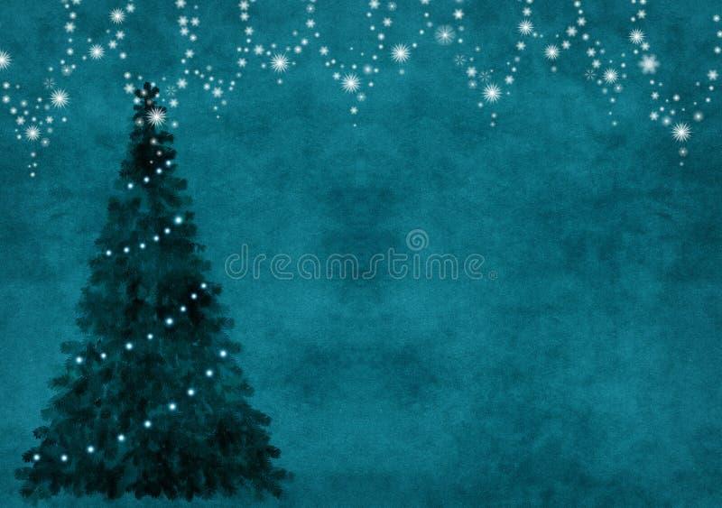 Fond avec l'arbre de chrisymas illustration stock