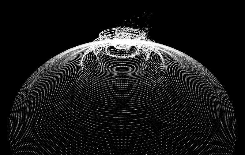 Fond avec l'explosion Illustration abstraite de vecteur avec l'effet dynamique style futuriste de la technologie 3d illustration libre de droits