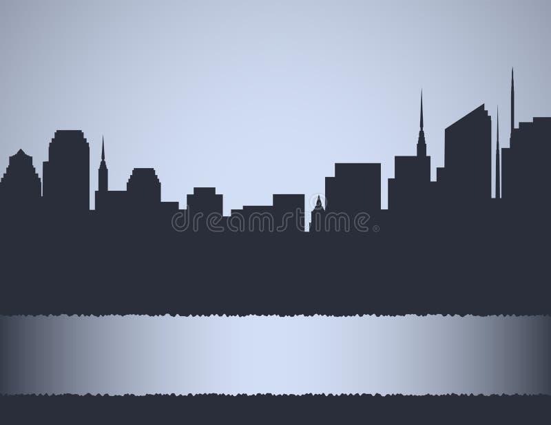 Fond avec l'horizontal de ville illustration de vecteur