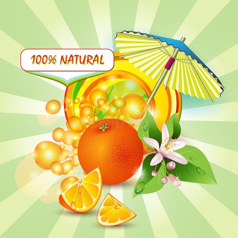 Fond avec l'orange illustration de vecteur