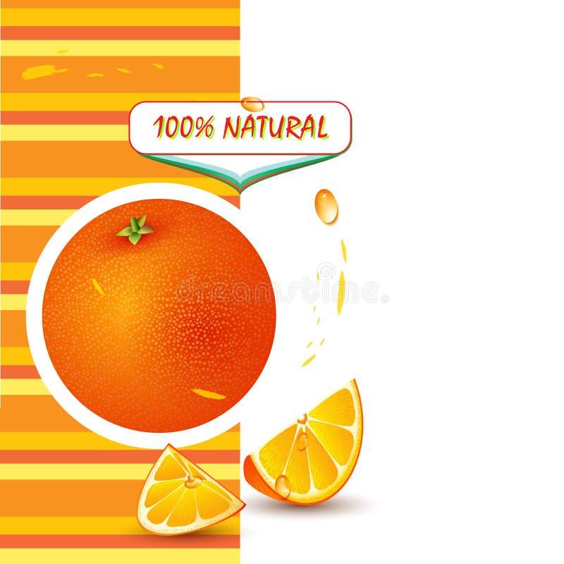 Fond avec l'orange fraîche illustration libre de droits