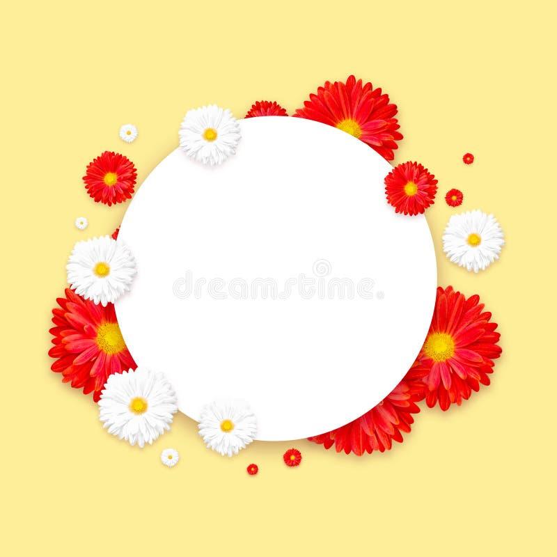 Fond avec la belle fleur colorée Wallpaper les insectes, invitation, affiches, brochure, remise de bon photo libre de droits
