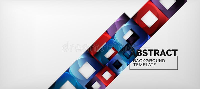 Fond avec la composition en places de couleur, conception géométrique moderne d'abstraction pour l'affiche, couverture, marquage  illustration de vecteur
