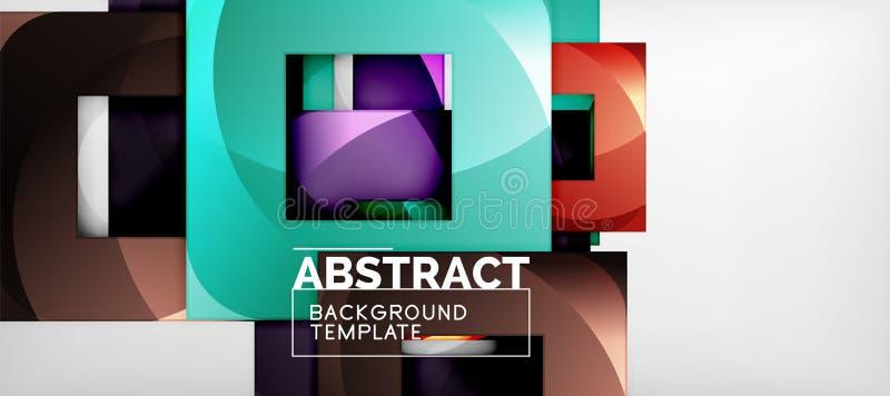 Fond avec la composition en places de couleur, conception géométrique moderne d'abstraction pour l'affiche, couverture, marquage  illustration libre de droits