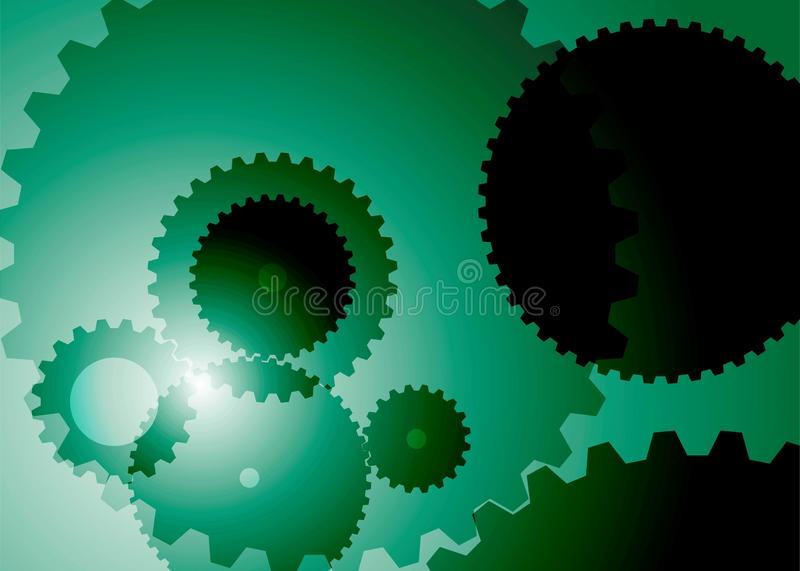 Fond avec la couleur verte de grandes et petites vitesses illustration stock