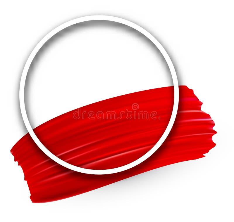 Fond avec la course rouge de brosse d'aquarelle illustration stock