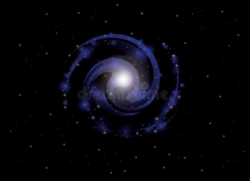 Fond avec la galaxie spiralée - vecteur illustration stock