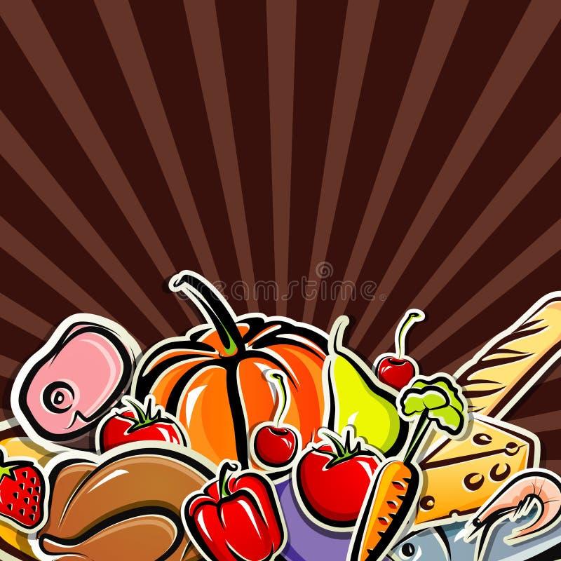 Fond avec la nourriture illustration libre de droits