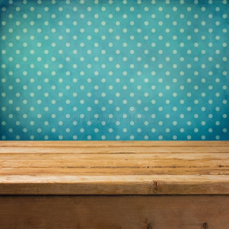 Fond avec la table en bois de paquet photo stock