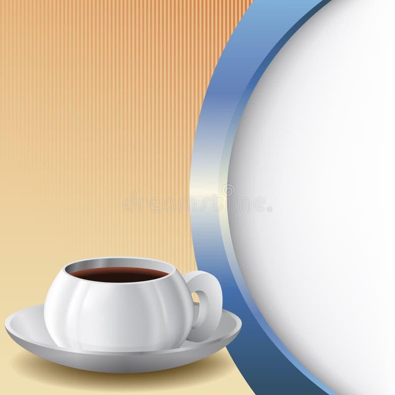 Fond avec la tasse de café illustration de vecteur