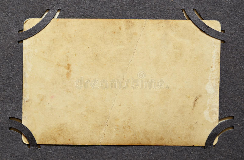 Contexte de vieille photo dans un album images libres de droits