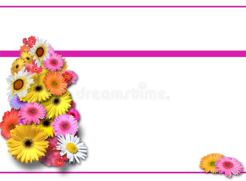 Fond avec le bouquet de source illustration de vecteur