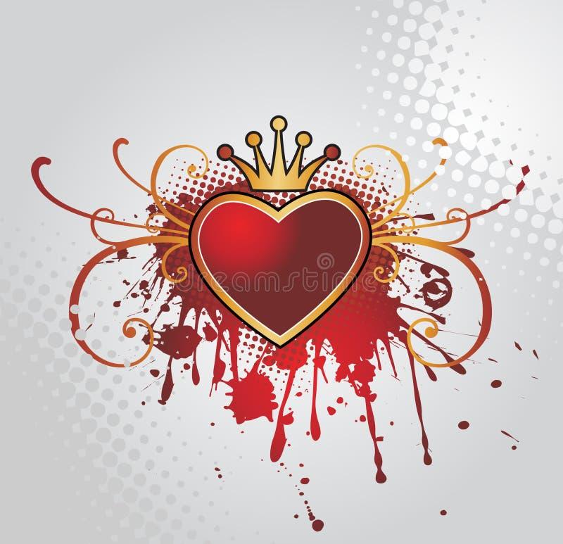 Fond avec le coeur illustration stock