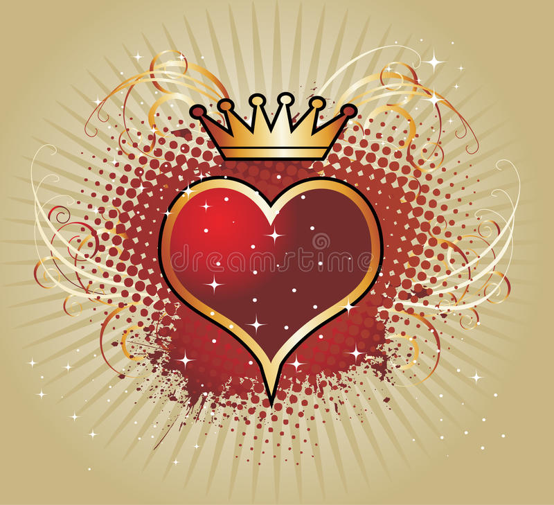 Fond avec le coeur illustration libre de droits