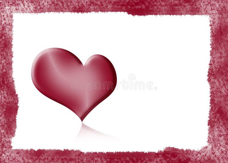 Fond avec le coeur illustration de vecteur
