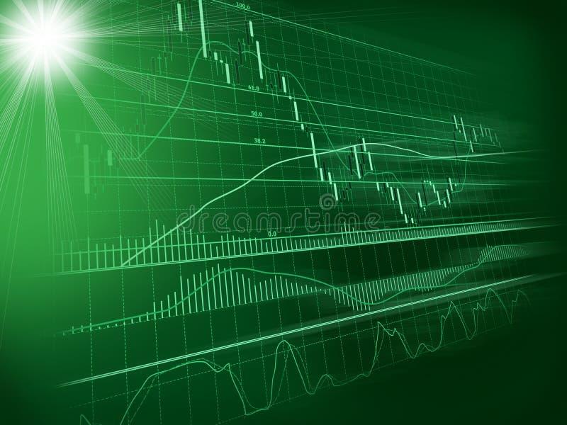 Fond avec le diagramme de devise illustration stock