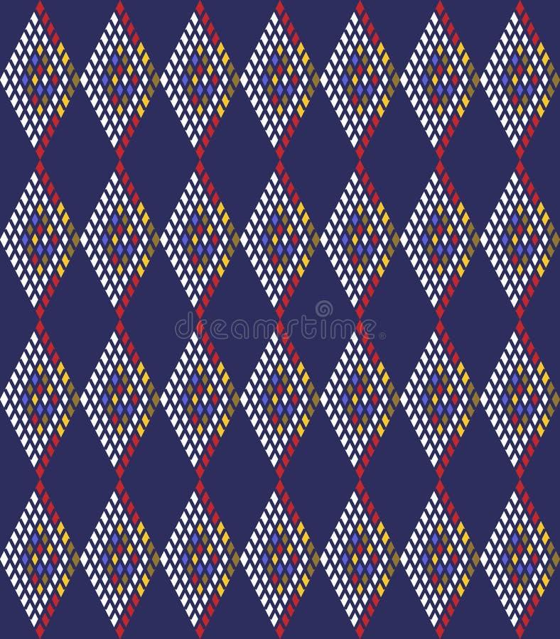 Download Fond Avec Le Losange Abstrait Illustration de Vecteur - Illustration du mignon, textile: 76079484