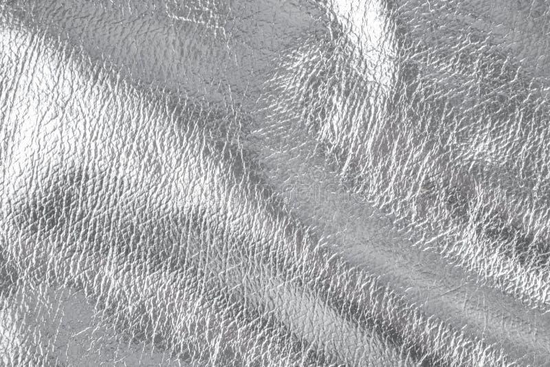 Fond avec le matériel de textile argenté, fin image de photo vers le haut d'†« photo libre de droits