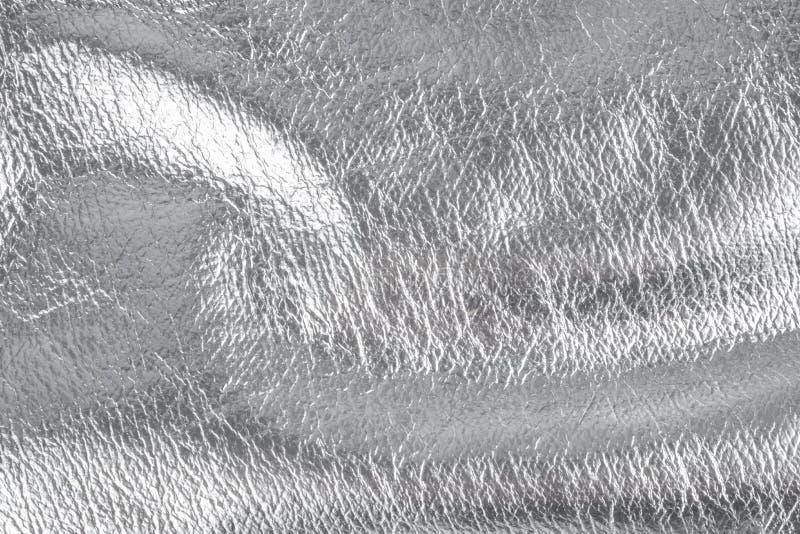 Fond avec le matériel de textile argenté, fin image de photo vers le haut d'†« images stock
