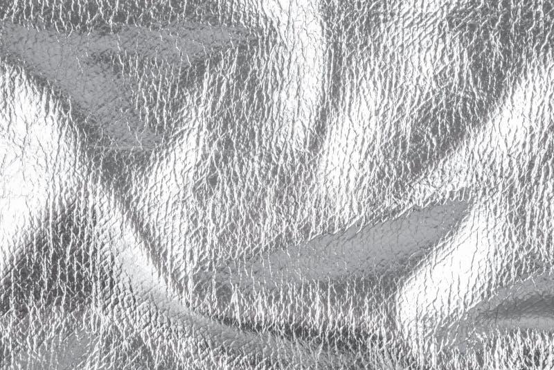 Fond avec le matériel de textile argenté, fin image de photo vers le haut d'†« images libres de droits