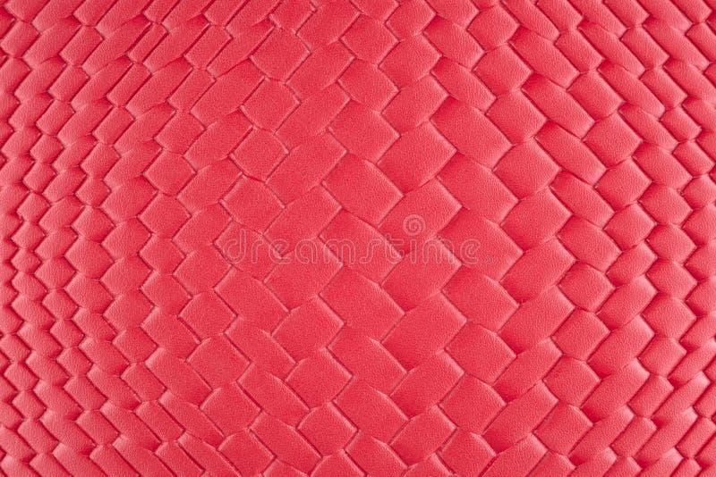 Fond avec le matériel en osier rouge, fin image de photo vers le haut d'†« photographie stock libre de droits
